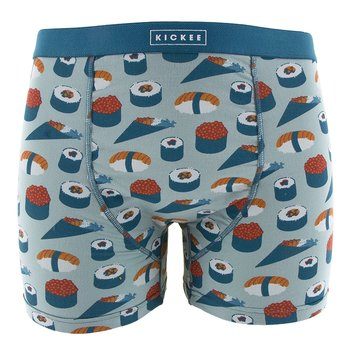 Men's Boxer Brief in Jade Sushi