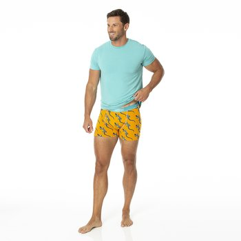 Men's Boxer Brief in Apricot Bead Lizard