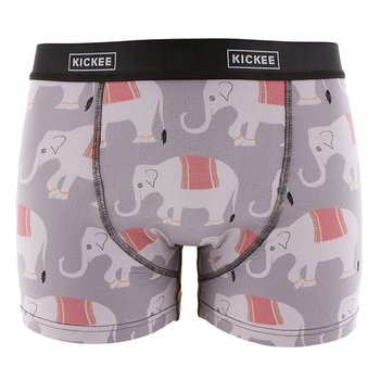 Men's Boxer Brief in Feather India Elephant
