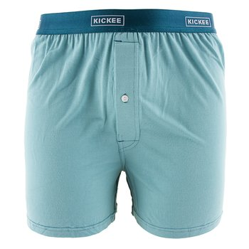 Solid Men's Boxer Shorts in Glacier with Oasis