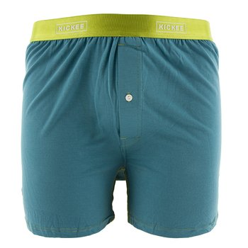 Solid Men's Boxer Short in Seagrass with Meadow