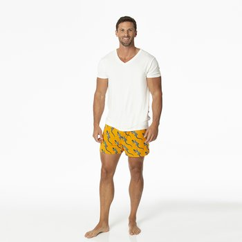 Men's Boxer Short in Apricot Bead Lizard