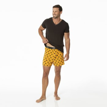 Men's Boxer Shorts in Apricot Palm Trees