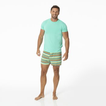 Men's Boxer Short in Cancun Glass Stripe