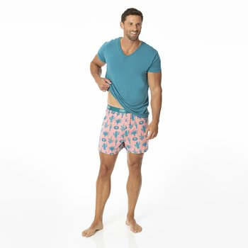 Men's Boxer Shorts in Strawberry Cactus