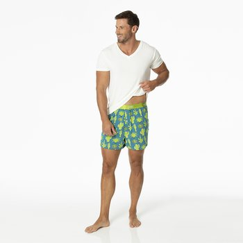 Men's Boxer Short in Seagrass Cactus
