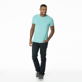 Men's Solid Short Sleeve Tee in Glacier