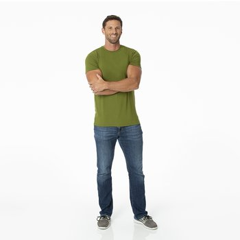 Men's Solid Short Sleeve Tee in Pesto