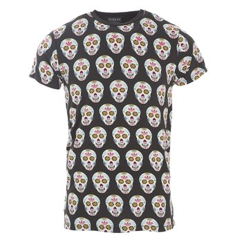 Men's Print Short Sleeve Tee in Dia de los Muertos