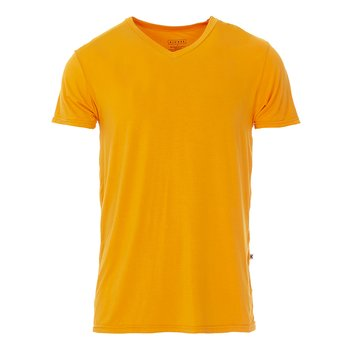 Men's Short Sleeve V-Neck Tee in Apricot