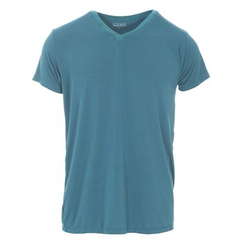 Men's Short Sleeve V-Neck Tee in Oasis