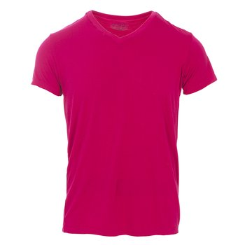 Men's Short Sleeve V-Neck Tee in Rhododendron