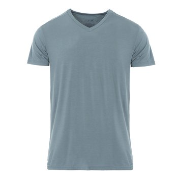 Men's Short Sleeve V-Neck Tee in Dusty Sky