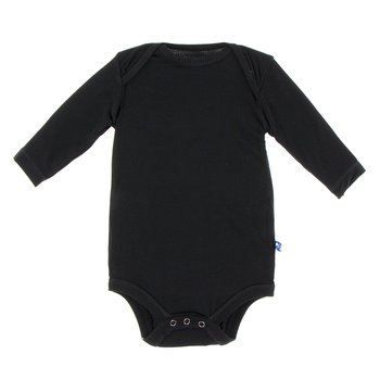 Basic Long Sleeve One Piece in Midnight
