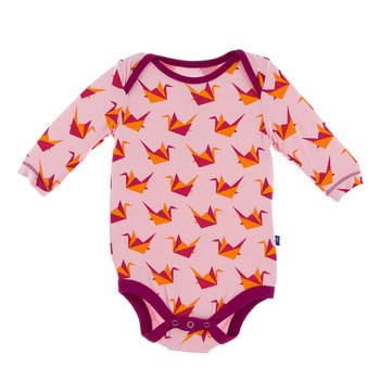 Print Long Sleeve One Piece in Lotus Origami Crane