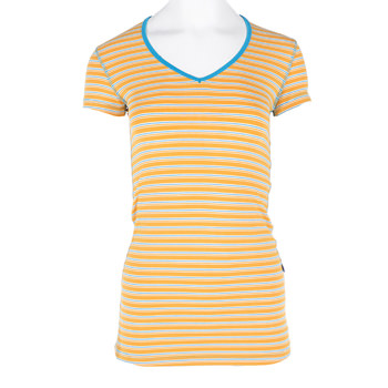 Print Short Sleeve One Tee in Tamarin Brazil Stripe