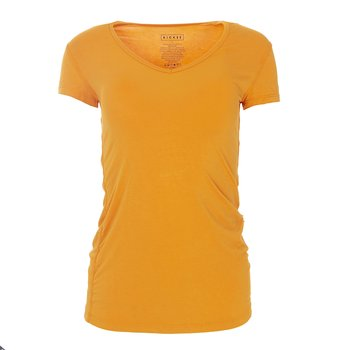Solid Short Sleeve One Tee in Apricot