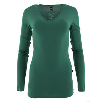 Solid Long Sleeve One Tee in Shady Glade