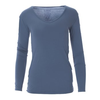 Basic Long Sleeve One Tee in Twilight