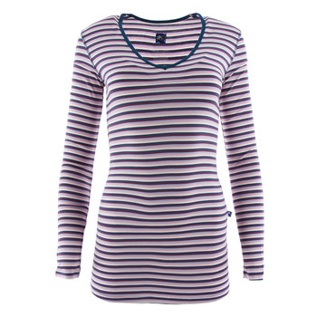 Print Long Sleeve One Tee in Girl Anniversary Stripe