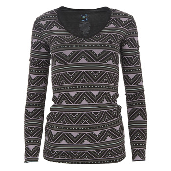 Print Long Sleeve One Tee in African Pattern