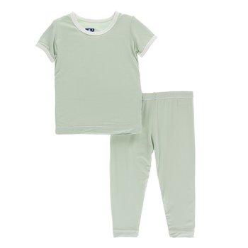 Kickee Pants Baby Boys Solid L//s Pajama Set Prd-kplp107-bay