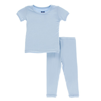 Basic Short Sleeve Pajama Set in Pond