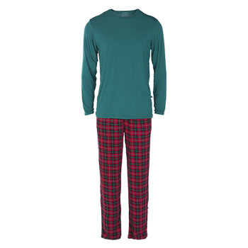 Men's Long Sleeve Pajama Set in Plaid