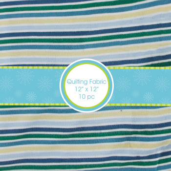 Print Quilting Square Bundle in Boy Perth Stripe