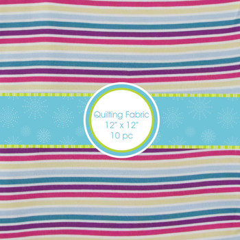 Print Quilting Square Bundle in Girl Perth Stripe