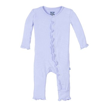 Basic Classic Ruffle Coverall in Lilac