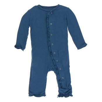Basic Classic Ruffle Coverall in Twilight