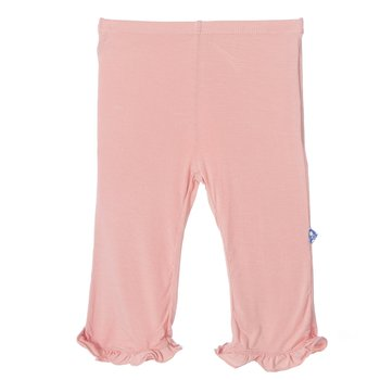 Solid Ruffle Pant in Blush