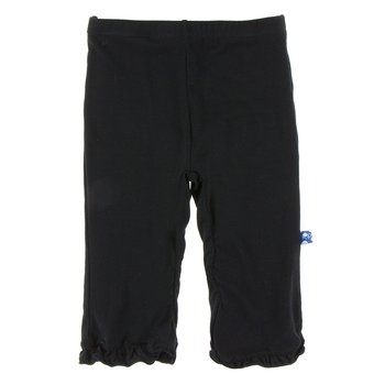 Basic Ruffle Pant in Midnight