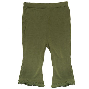 Basic Ruffle Pant in Moss