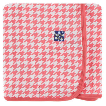 Print Swaddling Blanket in English Rose Houndstooth