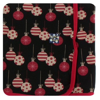 Print Swaddling Blanket in Midnight Ornaments