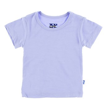 Basic Short Sleeve Tee in Lilac