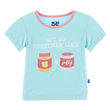 Short Sleeve Piece Print Easy Fit Tee in Peanut Butter & Jelly