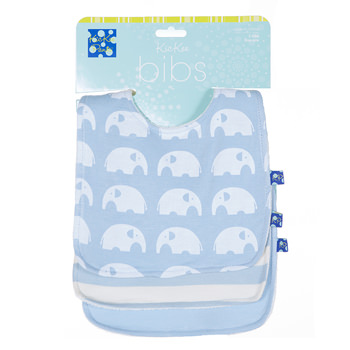 Essentials Bib Set (Set of 3) in Pond Stripe, Pond and Pond Elephant