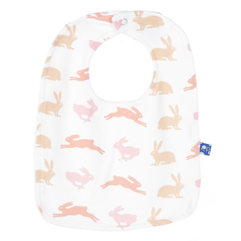 Single Bib in Girl Natural Hare