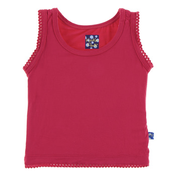 Solid Undershirt Tank in Flag Red