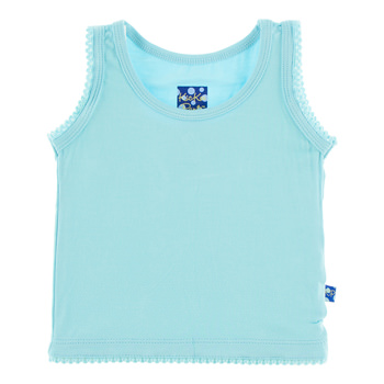 Solid Undershirt Tank in Shining Sea