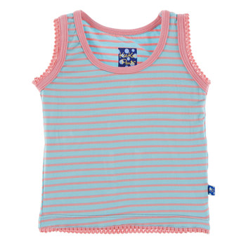 Print Undershirt Tank in Strawberry Stripe