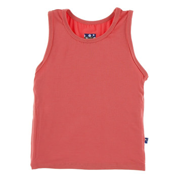 Solid Fitted Tank in English Rose