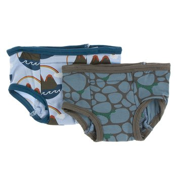 Training Pants Set in Pond Volcano & Sea Rolled Rocks