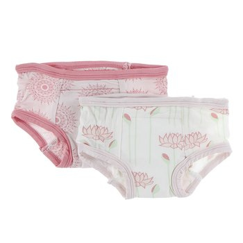 Training Pants Set in Macaroon Mandala & Natural Lotus Flower