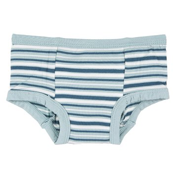 Training Pant in Boy Animal Stripe with Jade Trim