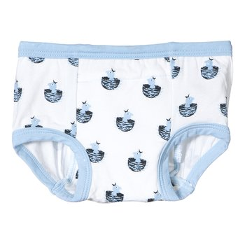 Training Pant in Boy Baby Bird with Pond Trim