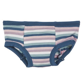 Training Pant in Girl Space Stripe with Twilight Trim